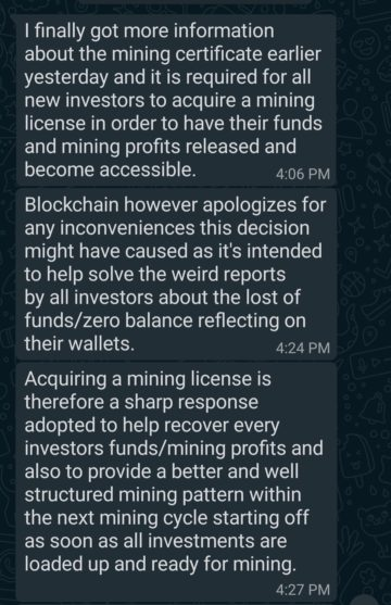 Fake Mining Investment Scheme Conversation 2